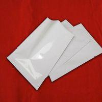 aluminum tea set - 8 cm Open Top White Aluminum Foil Coffee Tea Snack Storage Packing Vacuum Pouches Heat Sealable Mylar Bags Plastic Packag Bags