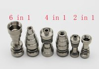 Wholesale In stock Universal Grade Ti Nail mm mm mm IN Domeless Titanium Nail For Oil Rigs Dab glass water bong