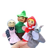 Wholesale Children Cartoon Characters Finger Puppet Toy Puppet Cloth Doll Baby Educational Hand Toy Each Separated