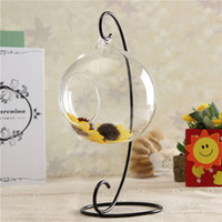 Wholesale 12CM Round Ball Hanging Decor Glass Flower Vase Plant Terrarium Container Gift Holder x cm design the landscape by yourself