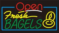 bagel shop - Custom Signage NEON SIGNS For Open Fresh Bagels Club BAR PUB Signboard Display Decorate Store Shop Light Sign quot
