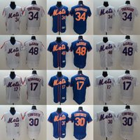 Wholesale MLB Mets jerseys new FlexBase baseball Jerseys New York HARVEY deGROM HERNANDEZ SYNDERGAARD CONFORTO freeshipping