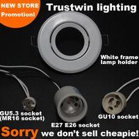 Wholesale 4 pieces MR16 E14 E27 E26 luminare white spot light lamp spotlight GU10 fitting fixture LED GU10 ceiling lamp light bulb holder