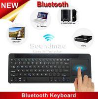 aluminum htpc - SEENDA IBK14B Ultrathin Keyboard Aluminum Alloy USB Interface Multimedia keyboard Touchpad Gesture For PC HTPC TV LAPTOP Windows IOS Android