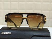 Wholesale Dita Grandmaster four navy Gold Sunglasses Unisex Brand New with Box