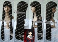 ai synthetics - 100 Hot Sell Brazil dark haired woman wig cosplay Heat Resistant synthetic gt gt gt gt gt HOT Hell Girl Enma Ai black Cosplay Wig cm ST915
