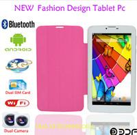 al por mayor android tablet with sim card slot-7inch 3G GSM llamada de teléfono WIFI Webcam Sim Card 4GB Bluetooth Tablet PC Slot phablet linterna MTK Qual-core