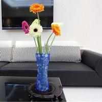 Wholesale Promotion DIY flower vase Folding vase PVC vase Foldable Vase Small Opp bag mix order