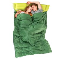 Wholesale Double couple sleeping bag outdoor new camping four seasons warm indoor portable lunch adult sleeping bag lunch