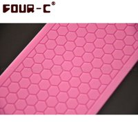 Wholesale 3D FOUR C Silicone Lace Mold Beautiful Honeycomb Design Instant Fondant Cake Mould Baking Supplies Cake Decorating Bakeware Tool