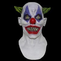 big circus - funny clown cosplay circus mask carnival Halloween Overhead Latex Scary Silly Big Grin Horror Costume Masks