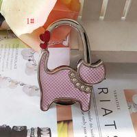 Wholesale 100 DHL FEDEX Folding Handbag Purse Bag Hanger Table Hook Hang Holder CAT Shape