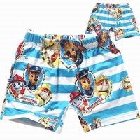 baby swimwear - 2 Colors Dog Paw Children Boys Swimwear BeachTrunks Child Baby Boys Swimwear One Piece Swimwear For To years Boy Wear Trunk Summers