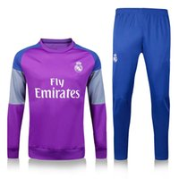 best suit colors - Tracksuits New Best Quality Real Madrid Soccer Shirts Jerseys Long sleeve soccer Training Suits Different Colors
