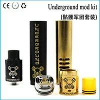 best underground - Best price clone Underground Kit Huge Vapor Underground Mod and Underground RDA High quality E Cigarette Colors fit Battery