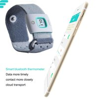 Wholesale 2pcs Brand New Children iFever FII Baby Thermometer Wearable Infrared Smart Monitor Body Temperature Household Kids Termometer