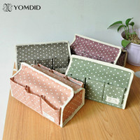 Wholesale Fluid storage tissue pumping Household Fabric Tissue Box Polka Dot six pocket pumping tray