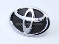 bb grills - CARBON MM FRONT REAR BOOT TRUNK BONNET GRILL LOGO BADGE EMBLEM FOR TOYOTA COROLLA BB RAV4 CAMRY HIGHLANDER CELICA VITZ VVTi