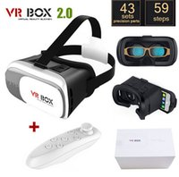 Wholesale Original Google Cardboard VR BOX II VR Virtual Reality D Glasses For quot quot Smartphone White Bluetooth Gamepad