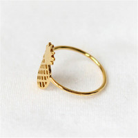 Wholesale 10 Women fashion big pineapple hollow out zinc alloy ring ring the woman an engagement ring holiday gifts