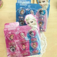Wholesale 2016 new style Princess Elsa And Anna Olaf Toys Seal Stamper Action Figure Toys For Boys Girls Children Hobby Kids Gifts
