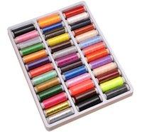 achat en gros de couleurs de fil à coudre-39pcs 200 Yard Mixed couleurs fil de couture de fil de polyester pour machine à main