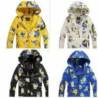 Wholesale Kids Winter Down Coats despicable me minion jacket winter hooded kids cotton padded jacket kids zipper hoodie Outwear KKA858