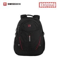Wholesale Swisswin Men Laptop Backpack Computer Backpack for Bussiness and Travel Black lightweight Urban Backpack Female