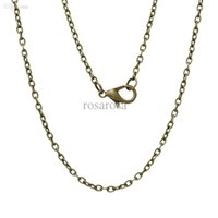 antique bronze chain - Jewelry Necklace Antique Bronze Cable Chains Lobster Clasp cm quot long new