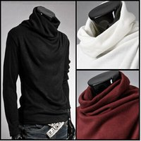 Wholesale Winter Sweater men Turtlenck Plus size Pull homme Solid Pull homme