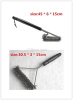 barbecue parts - Best Barbecue Grill Brusher Cleaner Tools Accessories Outdoor Kitchen Wire Bristles Cleaning Grates Parts Set to Handle Weber