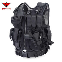Wholesale Police Tactical Vest Outdoor Camouflage Military Body Armor Sports Wear Hunting Vest Army Swat Molle Vest Black
