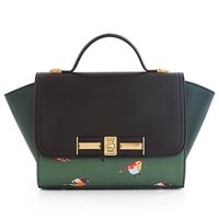 Wholesale NIU ISOS original new style lovely sweet forest parrot printing handbag tote trapeze bag