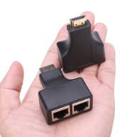Wholesale PAIR HDMI Over RJ45 CAT5e CAT6 UTP LAN Ethernet Extender Repeater m ft P rj45 ethernet