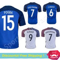 Wholesale Griezmann Soccer Jersey Maillot de foot POGBA PAYET New Euro white blue Football Shirt Camiseta de futbol