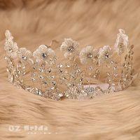 Cheap 2015 Hand Made Summer Wedding Crown Bridal Accessories Cheap Modest Sexy Car-styling Hair Jewelry Bridal Hair Accessories Crystal Beading