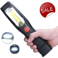 Wholesale LED Cordless Work Light COB Rechargeable Portable Hand Held Work Lamp With Hanging Hook Magnetic Holders V V Charging Multifunctio