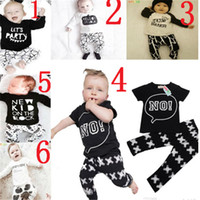 Cheap New Baby Boys Girls Letter Sets Top T-shirt+Pants Kids Toddler Infant Casual Long Sleeve Suits Spring Children Outfits Clothes Gift DG16-B21