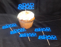 baptism party food - Fathers Day Cupcake toppers wedding bridal shower valentine s day party food picks Birthday baby baptism toothpick