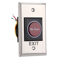 Wholesale 12V cm Sensor Range Infrared Stainless Steel Infrared Switch No Touch Door Exit Touch Free Switch withTwo LED Indication