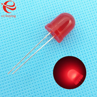 Wholesale mm LED Red Diffused Round Light Emitting Diodes Lamp Bead DIP Plug in Through Hole Bulb Wide Angle mm