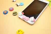 Wholesale Lovely Home Button Sticker Paster For iPhone All Models Key Press Cute Cartoon Silicon Soft For iPhone High Quality