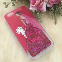 apple themes - For iphone Princess Theme Quicksand Liquid Dynamic CaseFor LG STYLUS LS775 PLUS G5 K8 K10 K5 ls770 Cartoon Figure Back Cover