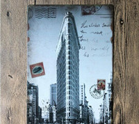 american metal buildings - New York flatiron building Creative posters cm decorative sheet metal painting decorative crafts and gifts