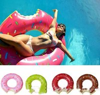 Wholesale 5 Sizes Colors Doughnut Shaped PVC Swim Ring for Adults Swimming Learners Holiday Water Fun Pool Toys Swimming laps