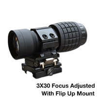 airsoft scope magnifier - Tactical x magnifier Riflescope Airsoft X30mm Magnifying Scope Focus Adjusted With Flip Up Mount For Hunting