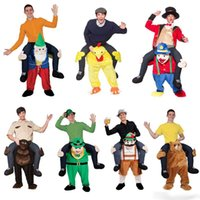 Wholesale Carry Me Teddy Bear Funny Carry Me Fancy Dress Up Party Mascot Halloween Costume One Size Fits Most