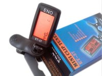 Wholesale Free DHL whole sale ENO ET LCD Mini Guitar Tuner Clip on Electronic Guitar Chromatic Universal Bass Violin Ukulele Tuner