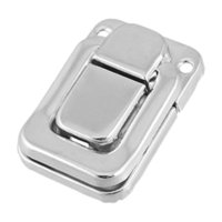 aluminum chest box - DHDL Silver Tone Metal Spring Loaded Cases Boxes Chest Toggle Catch Latch
