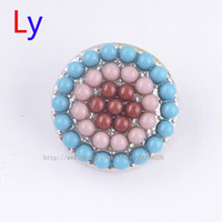 asian rice - Three color Beads Seed bead mm Noosa Chunks DIY Acrylic Jewelry Findings Alloy Rice Pearl Ginger Snap Button fit Bracelet Necklace Ring